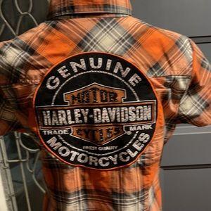 Harley Davidson orange and black top. NWOT